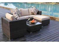 Brown Rattan Furniture Set