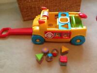 Shape sorter pull along car.