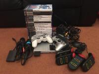 Sony PlayStation 2 Slimline Console in Silver with loads of extras