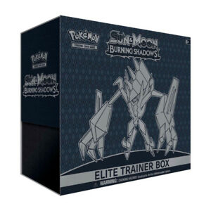 Pokemon SUN and MOON Burning Shadows Elite Trainer Box