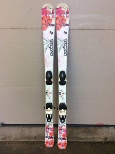 Girl's downhill skis and boots package