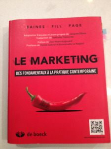 Livre: Le Marketing - Des fondements à la pratique contemporaine