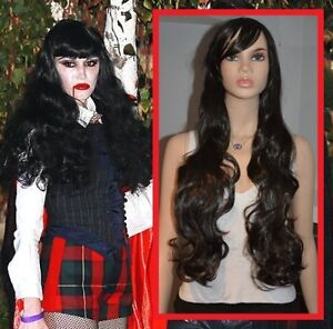 BRAND NEW: 80cm Curly Black Cosplay Wig (503-0529)