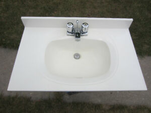 """Vanity Counter Top - 31"""" - White - cultured marble"""