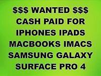💰CASH PAID FOR IPHONE 6S, 7, 7 PLUS, MACBOOKS, IPADS, IMACS, SAMSUNG GALAXY S7 EDGE, S8, S8 PLUS.
