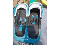 Baby jogger city mini double pushchair/ buggy/stroller
