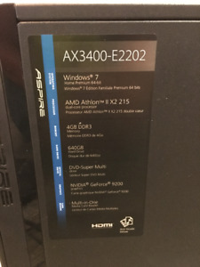 Acer Desktop Computer w/ keyboard, mouse, LCD monitor
