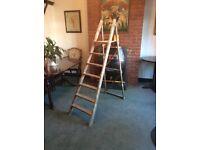 Vintage Wooden Step Ladders - Wedding Display - Shabby Chic, Etc