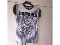 Ramones T x women's . Only worn once , small green ink splash on shoulder . 🌀x
