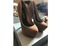 High platform shoes size 5