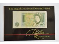 The English One Pound Note 1821 to 1984 - Raffles Collectors Edition