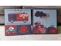 A Pair Of Kids Bedroom Canvases, 40cm by 40cm