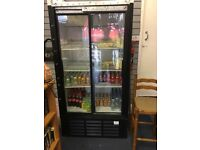 Drink fridge and heavy shelving