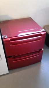2 washer and dryer stacking bins