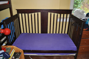Storkcraft Lily 4-in-1 crib, optional mattress and cover