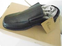 Mens Carl Dark Brown Leather Slip On Shoes. Sizes: 7 & 10