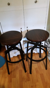"30"" inch bar stools adjustable"