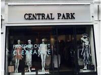 Central Park - Part-Time/Full Time Staff Required