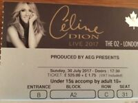 Celine Dion Sunday 30th July 02 - VERY NEAR FRONT!! BLOCK A2, ROW C - *1 TICKET*
