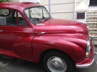 Red 1969 Morris Minor 1000