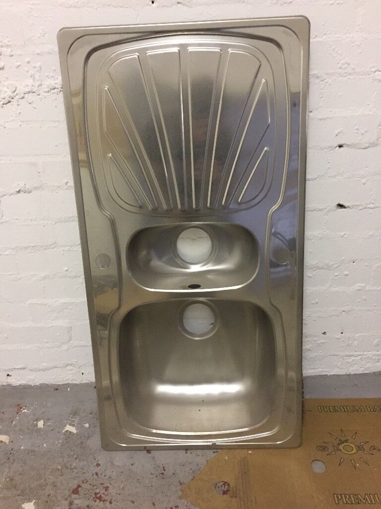 Stainless steel kitchen sink unused and unbowed 980 x 500 £25