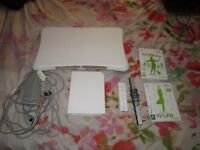 WII CONSOLE BUNDLE,WII BOARD,WII FIT AND WII FIT PLUS GAMES