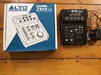 Alto Pro ZMX52 5 Channel Compact Mixer - Boxed and in VGC