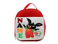 PERSONALISED kids ANY CHARACTER back to school lunch bag FREE UK POSTAGE