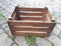Large Vintage Wooden Crate, Great Condition FREE DELIVERY