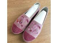 Chanel pink sequins espadrilles size 5