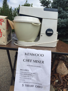Kenwood Chef Mixer with attachments