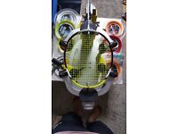 Badminton strings and rackets