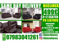 WOW BRAND NEW BOX sofa LEATHER 3 And 2 seaters