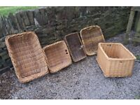 collection of wicker baskets