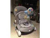 Chicco grey baby bouncer chair