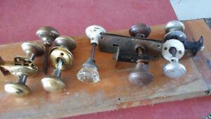 lot de poignées de portes antique