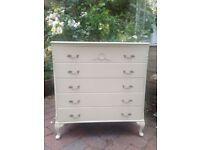 Harrods Olympus French chest of drawers shabby chic