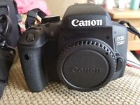 Canon EOS 750D w/Canon 18-55mm STM + 55-250mm IS II Lens + Extras - Boxed