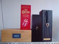 3 Champagne Boxes + 1 Tequila Jose Cuervo The Rolling Stone Box.