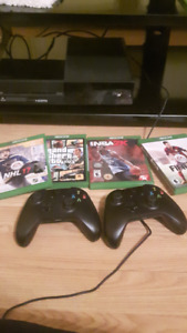 Xbox One For Sale w/ 2 controllers + games