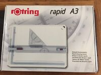 Rotring 213910 A3 Rapid Drawing Board - White - Boxed and excellent as new condition - ideal student