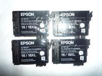 x4 Genuine Original Epson Daisy 18/18XL EMPTY Ink SETUP Cartridges XP-312