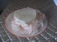 Cream Hat Made by Susy Krakowski