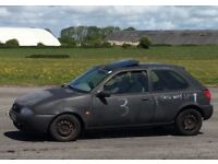 Ford Fiesta si track car and trailer