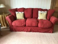 One two seater sofa and one three seater sofa for sale