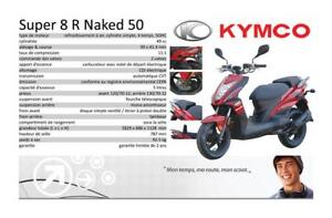 SCOOTER KYMCO SUPER 8 NAKED 2015 LIQUIDATION SCOOTER 50CC $1999
