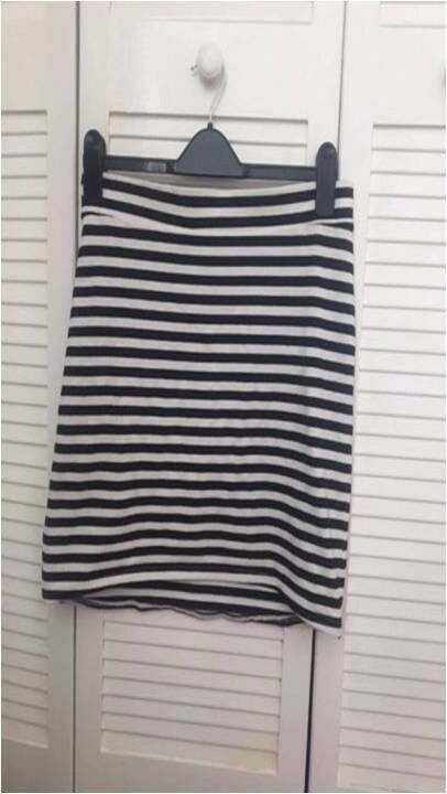 Bodycon skirtin Plymouth, DevonGumtree - H&M striped bodycon skirt, size large, been worn once but still in good condition