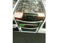 STOVES 55CM GAS DOUBLE OVEN COOKER IN SILVER & BLACK ☆BRAND NEW☆