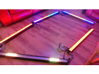 Pulse LED bar Lights X 4 plus Link Up Cables.
