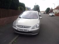 2004 peugeot 307 sw xsi hdi estate with panoramic roof , good tyres, mot until 15 december 2017